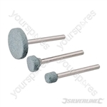 Rotary Tool Grinding Stone Set 3pce - 5, 9, 20mm Dia