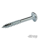"Zinc Pocket-Hole Screws Washer Head Fine - No.8 x 1-1/4"" 5000pk"