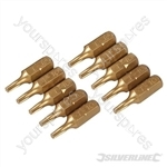 Torx Gold Screwdriver Bits 10pk - T10