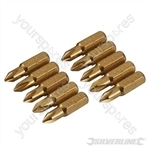 Phillips Gold Screwdriver Bits 10pk - PH1