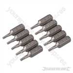 T9 Cr-V Screwdriver Bits 10pk - T9