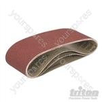 Sanding Belts for Triton Palm Belt Sander 3pk - TCMBS80G Sanding Belts 3pk 80G