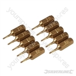 Torx Gold Screwdriver Bits 10pk - T5