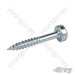 "Zinc Pocket-Hole Screws Washer Head Fine - No.6 x 1"" 500pk"
