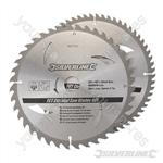 TCT Circular Saw Blades 40, 60T 2pk - 250 x 30 - 25, 20, 16mm Rings