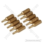 Torx Gold Screwdriver Bits 10pk - T15