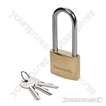 Brass Padlock Long Shackle - 40mm