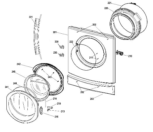 indesit washing machine front door trim c00202939 by indesit