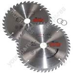 Circular Saw Blades 160mm x 20mm TCT Tungsten Carbide Teeth 36 and 48 Tooth Twin Pack