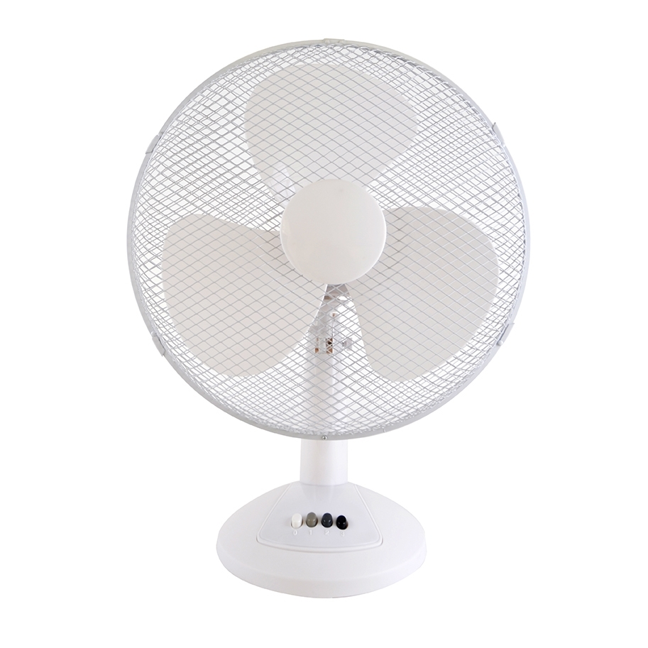 Table Fans Parts : Stay cool  cm w desk fan white f wh by