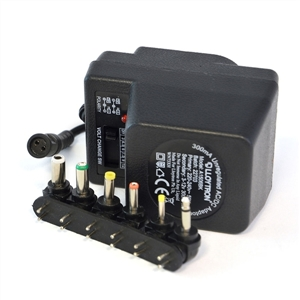 300mA Unregulated AC/DC Multi-Voltage Adaptor