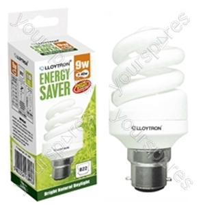 Mini Spiral CFL - 9w - B22 - 240V - 5600K (Daylight)
