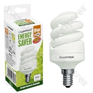 Mini Spiral CFL - 9w - E14 - 240V - 5600K (Daylight)
