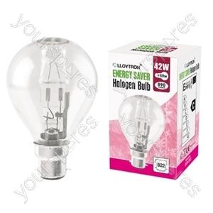Golf Ball B22 42w 240v Halogen Incandescent Bulb