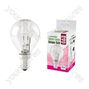 Golf Ball E14 42w 240v Halogen Incandescent Bulb