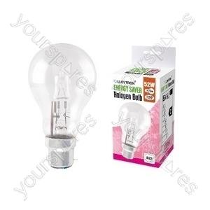 GLS B22 52w 240v Halogen Incandescent Bulb