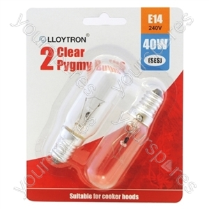 Hotpoint Universal Appliance Bulb E14 40w 240v (Cooker Hood Light) - 2pk