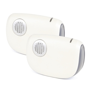 MiP 32 Melody Battery Operated Door Chime - White (Twin Receivers)