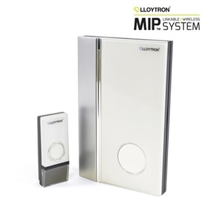MiP Wallmountable 32 Melody Battery Operated Door Chime - White