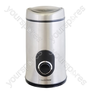 KitchenPerfected 150w 50g Spice / Coffee Grinder - Brushed Steel