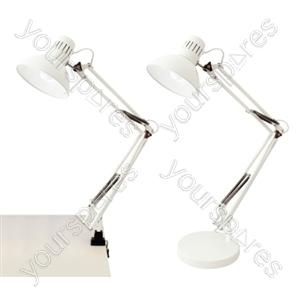 45w 'Modus' Swing-Arm Hobby Desk Lamp - White