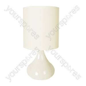 14'' 45w ''Zenith'' Touch Table Lamp - Cream