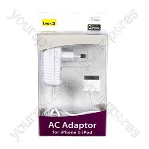 AC Mains Adaptor for iPhone & iPod - UK - Euro