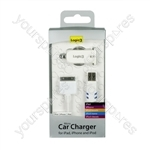 iPad/iphone/ipod Car Charger Pro - White