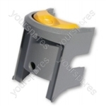 Dyson DC07 Switch Plate Grey Yellow