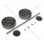 Dyson Assembly Kit  grey/Purple Vacuum Wheel