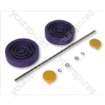 Dyson  Assembly Kit Purple/yellow Vacuum Wheel