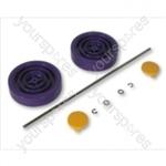 Dyson DC04DESTIJL Assembly Kit Purple/yellow Vacuum Wheel