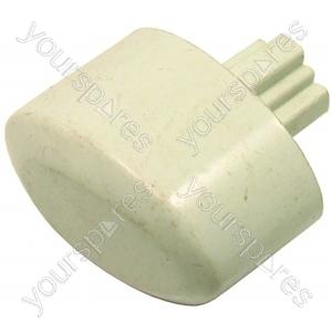 Push-button Knob White 27