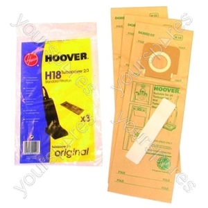 Hoover H18a Vacuum Cleaner Dust Bags X 3