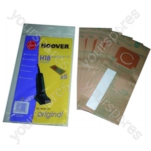 Hoover U2464 High Filtration Bags (H18) - 5 Pack