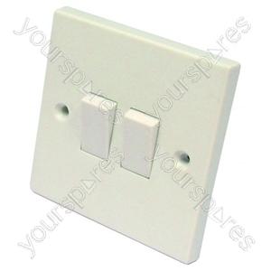 Light Switch 2 Gang 2 Way 6 Amp
