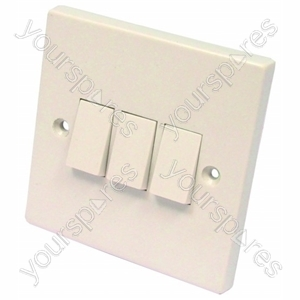 Light Switch 3 Gang 2 Way 6 Amp