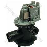Indesit WG1185WG/1 Askoll Drain Pump w/ Tag Connections