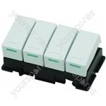 Creda 17096E Washing Machine 4 Switch Bank