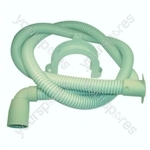 Hotpoint 1218CDE3B Dishwasher Long Drain Hose and Elbow - 1.9 Metre