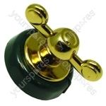 Creda 48280 Dark Green Brass Finish Oven Control Knob