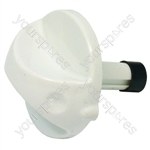 Hotpoint GW51P White Long Shaft Control Knob