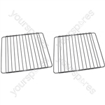 MFI 2 X Extendable Oven Cooker Grill Shelves Rack Grids