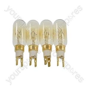 Whirlpool S20BRWW22-A/G (858615110000) 4 x American Style T Click 40W 240V Fridge Freezer Bulb Lamp