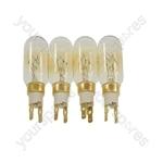 Whirlpool S25DRBB33-A/G (858616815002) 4 x American Style T Click 40W 240V Fridge Freezer Bulb Lamp