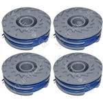 4 x Trimmer Strimmer Spool & Line Double Autofeed Compatible With Flymo FLY021