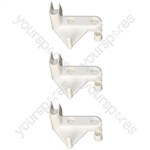 Indesit BA13SUK Right Hand Ice Box Door Flap Hinge Ariston Hotpoint Fridge Freezer Pack of 3