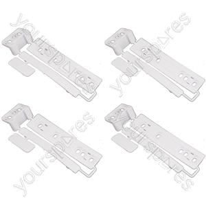4 x Universal Integrated Sliding Door Hinge Mounting Kit