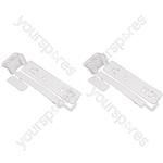 2 x Universal Integrated Sliding Door Hinge Mounting Kit