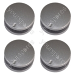 Lamona Compatible 12 O'Clock Type Silver Replacement Oven Cooker Hob Control Knob Pack of 4
